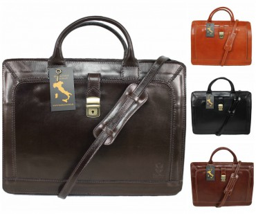 4farben leder damen herren laptoptasche aktentasche aktenkoffer businesstasche l ebay. Black Bedroom Furniture Sets. Home Design Ideas